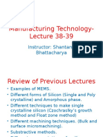 Manufacturing Processes Lecture 38 39