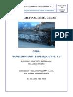 Informe Final Espesador #61