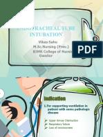 Endotracheal Tube intubation