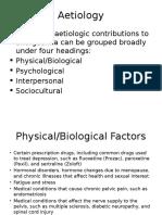 Aetiology of FOD