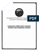 Judge Complaint Procedures Compilation_ Whistleblower Leak Sacramento Superior Court Employee - Sacramento Co