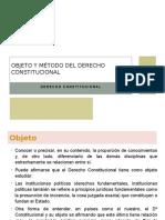 Objeto y Método Del Derecho Constitucional