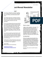 Project-Reveal Newsletter Vol1 Issue1