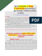 KING ABDULAZIZ UNIVERSITY Google scholar_Dr Intakhab Khan