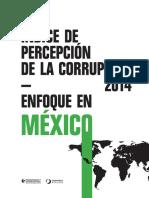 Indice de Percepción de la Corrupción 2014. Enfoque en México.