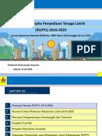 Rencana Usaha Penyediaan Tenaga Listrik (RUPTL) 2016-2025 -- PLN