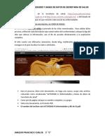 ENFERMEDADES Y BASE DE DATOS DE SECRETARIA DE SALUD