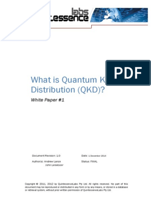QKD What is Quantum Key Distribution Whitepaper | Public Key