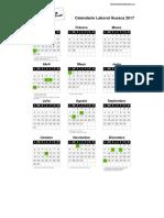 Calendario Laboral Huesca 2017