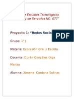 """Redes Sociales"" 1er. Parcial. Proyecto 1."