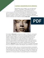 Akenatón, El Primer Monoteísta de La Historia