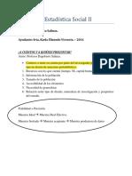 Ayudantía Estadística Social II 2014