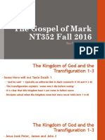 The Transfiguration Mark 9.1_13 NT352 Fall 2016