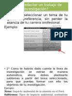Diapositivas - Sesión 2 - Pasos para redactar los objetivos y antecedentes.pptx