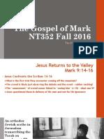 The Power of Prayer Mark 9.14_29 NT352 Fall 2016