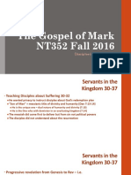 Jesus is Questioned Mark 10.1_52 NT352 Fall 2016