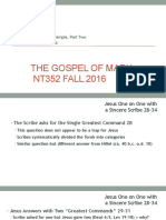Jesus in the Temple Part Two Mark 12.28_44 NT352 Fall 2016