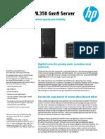 HP ProLiantML350Gen9 DataSheet