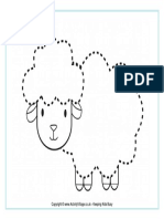 Sheep Tracing Picture