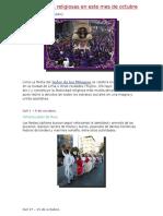 112Festividades Religiosas en Este Mes de Octubre