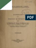Exposición de la Dirección de Antropología sobre la población del valle de Teotihuacán, representativa de las que habitan la Mesa Central