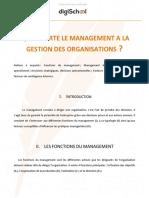 Le Management a La Gestion Des Organisations