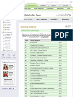 myplan   assessment   skills profiler report   summary analysis