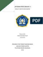Laporan Praktikum Elektronika Telekomunikasi Percobaan 11 Mohammad Iqbal Yusuf Tk-2a 3.33.15.0.16