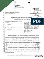 ABC Escrow Inc. / Alcohol Enterprises Inc. v Michael Steinhauer - Application For Temporary Restraining Order
