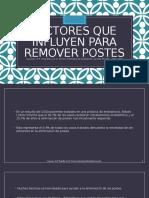 14 Factores Que Influyen Para Remover Postes