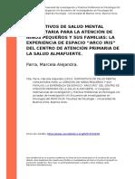 Parra, Marcela Alejandra (2012). Dispositivos de Salud Mental Comunitaria Para La Atención de Niños Pequeños y Sus Familias
