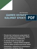 Games Estafet Kalimat Efektif