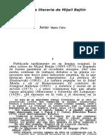 La Teoría Literaria de Mijail Bajtín_impresión
