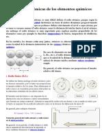 Propiedades Atómicas de Los Elementos Químicos (5to Sec)