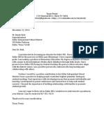 cover letter keller isd