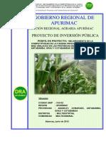 Mejoramiento de La Competitividad de La Cadena Productiva Del Cultivo de Maiz Amilaceo 2306678