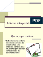 Informe interpretativo