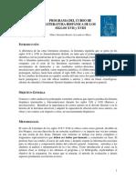 Programa Literatura de Los Siglos XVII y XVIII