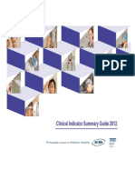 3 Summary Guide Clinical Indicators 2012 (ACHS)
