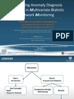 Comparación de Métodos de Diagnóstico de Anomalías en Monitorización Estadística Multivariante de Redes