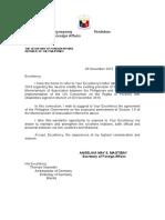 Diplomatic Letter Sample
