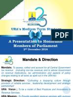 The URA Medium Term Strategy