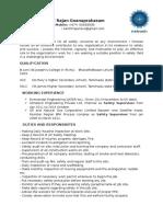 Resume of Santhirajan (1)