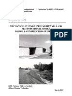 Fhwa Nhi-mechanically Stabilized Earth Walls and Reinforced Soil Slopes Design & Construction Guidelines