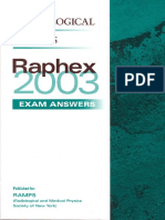 Raphex 2003 Answers