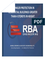 37RBA Presentation for OBOA 2013 - Sprinklers in Buildings Greater Than 4 Storeys in Height