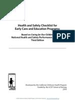 hs checklist