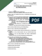 ESTRUCTURA y Resumen de Articulos ESTATUTO de AUTONOMIA Cam-limpiador Juntaex