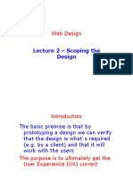 Lecture 2 - Scoping the Design