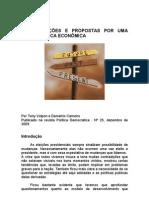 CONSIDERAÇÕES E PROPOSTAS POR UMA NOVA POLÍTICA ECONÔMICA